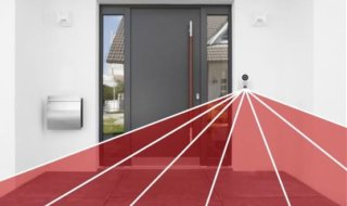 Doorbird, Türklingel mit Kamera, Smart Home, Türsprechanlage, Haustür, rot