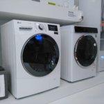 Smart Home, Waschmaschine, LG ThinkQ, weiß, schwarz
