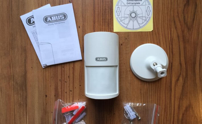 ABUS, Bewegungsmelder, weiß, Betriebsanleitung, Schrauben