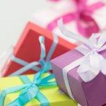 Geschenke, Schleifen, Bunt, Lila, Verpackt,