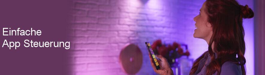App Steuerung mit Philips Hue App