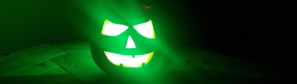 Halloween Kürbis Beleuchtung grün