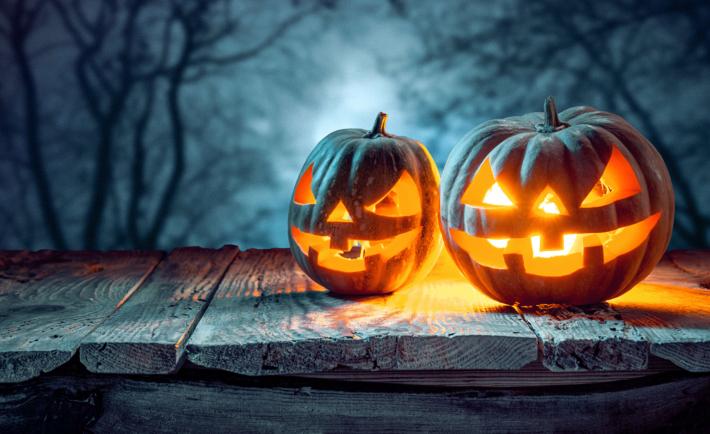 smarter Halloween Kürbis Deko