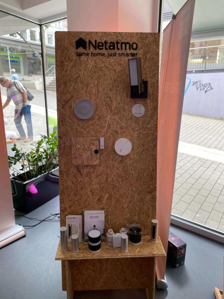 Netatmo Aufsteller Pop-Up Store