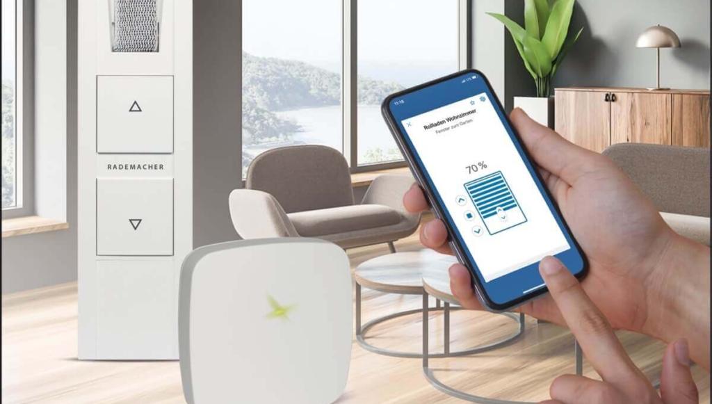Rademacher Start2Smart Set RolloTron Gurtwickler Bridge Smartphone App