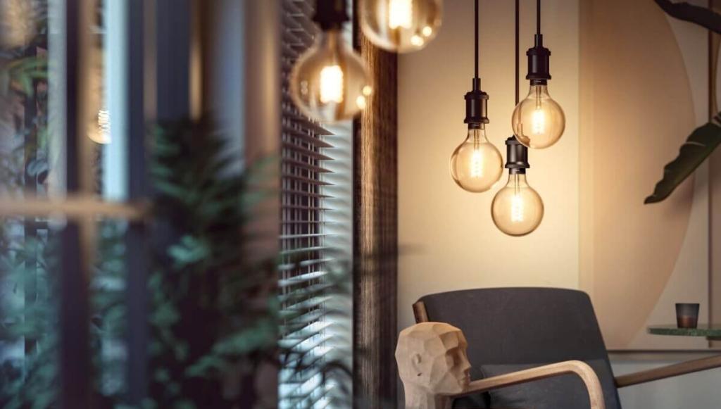Philips Hue Giant Filament Leuchtmittel Edison Globe Deckenleuchte