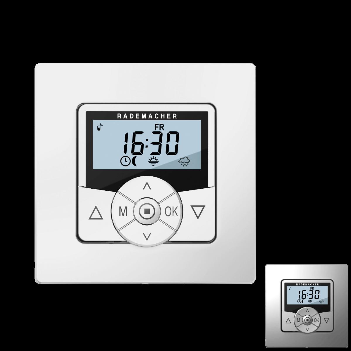 Rademacher Troll Comfort Steuerung Weiß oder Alu | beleuchtetes Display + DuoFern-Funk