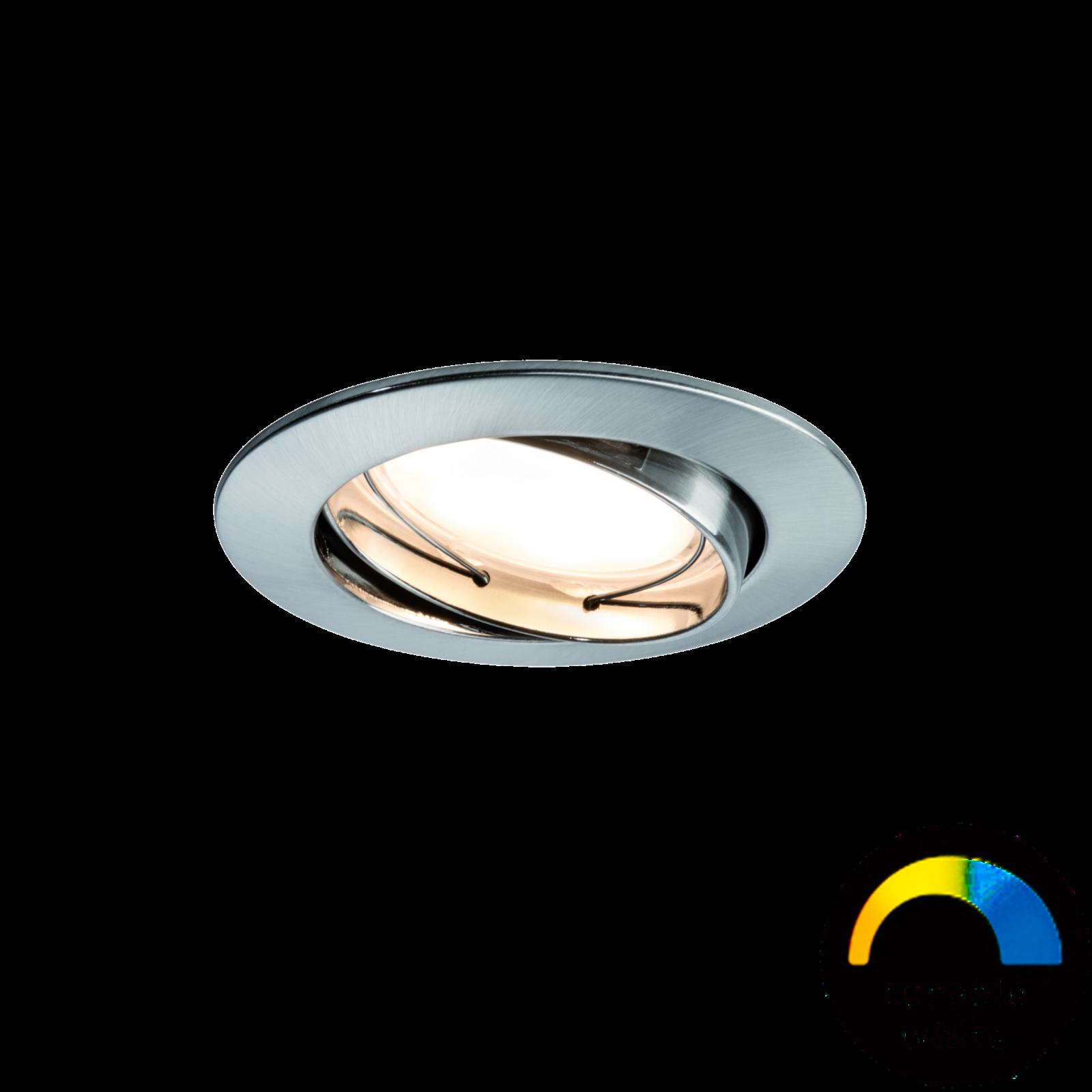 Paulmann LED Einbauleuchte SmartCoin Weißlicht-Steuerung - Eisen gebürstet