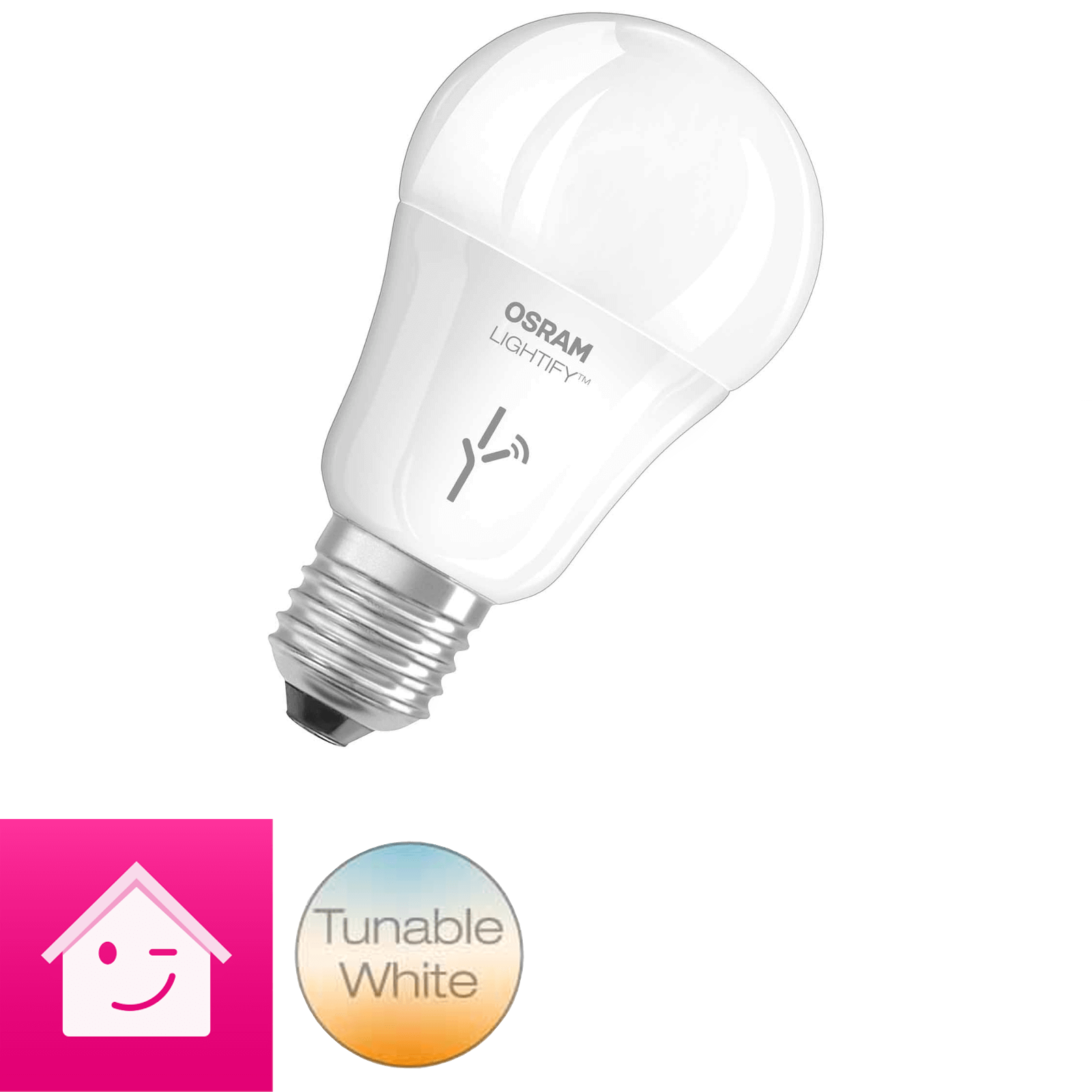 OSRAM LIGHTIFY CLASSIC A LED-Glühlampe Tunable White / dimmbar / warmweiß  2700K - 6500K