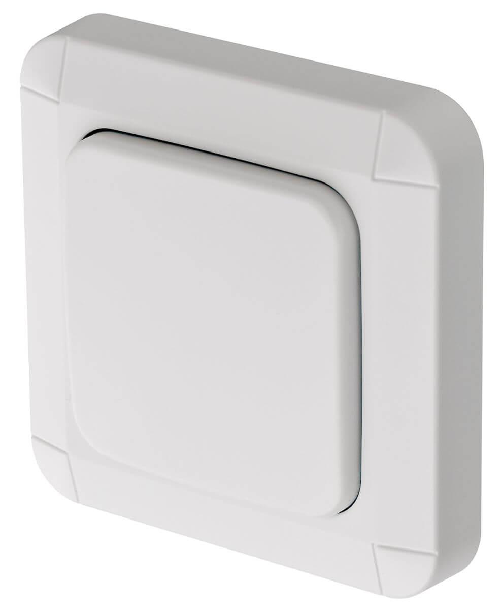 BrematicPro Funk-Wandtaster, Aufputz, IP44, Weiß (Brennenstuhl Smart Home)