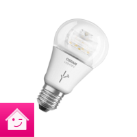OSRAM LIGHTIFY Classic A LED-Glühlampe, 10 Watt, E27, klar, dimmbar / warmweiß 2700K