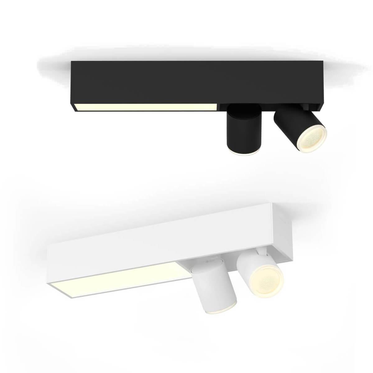 Philips Hue White & Color Ambiance Centris Strahler 2 flammig | Lightbar Spots | Schwarz oder weiß