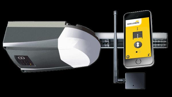 Schellenberg Komplettset aus Smart DRIVE 14 und Smartphone Garagentoröffner