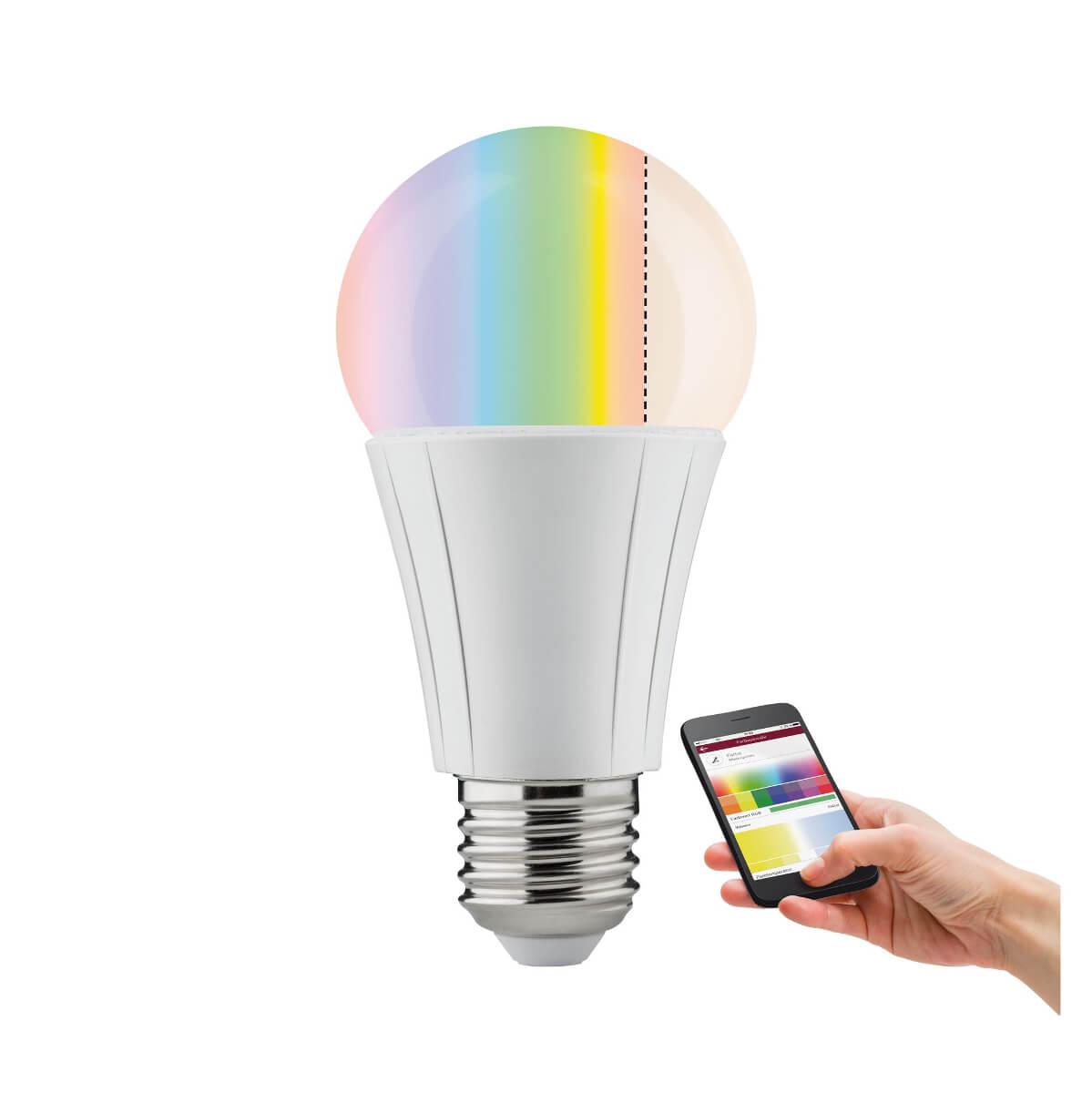 Paulmann SmartHome ZigBee LED AGL Soret 7,5 W E27 RGBW, Leuchtmittel mit Farbsteuerung per App