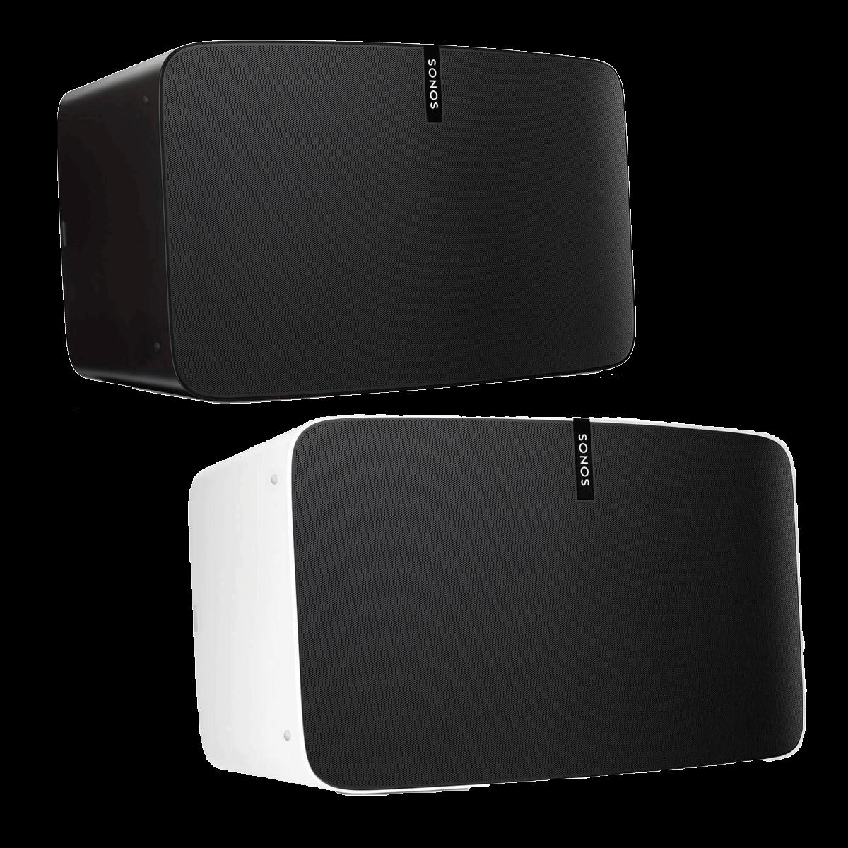 Sonos PLAY:5 | Weiß Schwarz | Multiroom Speaker für Wireless Music Streaming