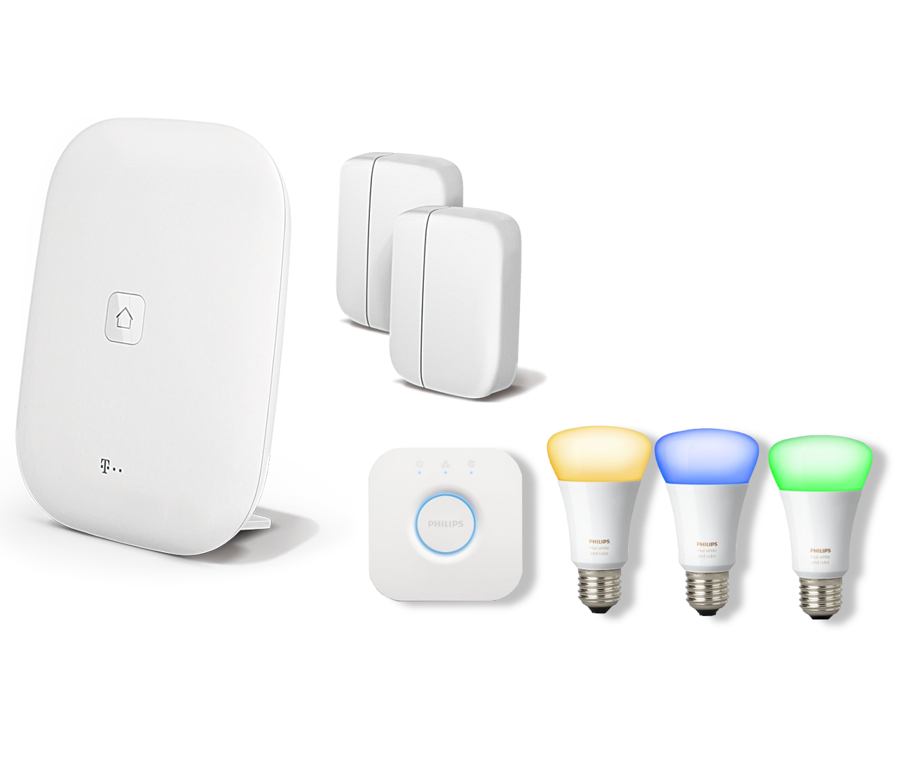 Paket Sicherheit & RGB Licht Magenta SmartHome