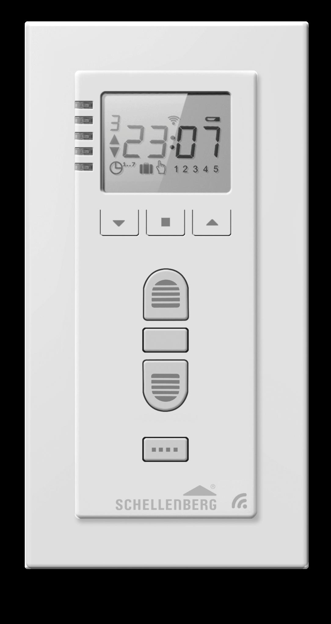Schellenberg Funk-Zeitschaltuhr PREMIUM Funk-Rollladenantriebe und Funk-Markisenantriebe