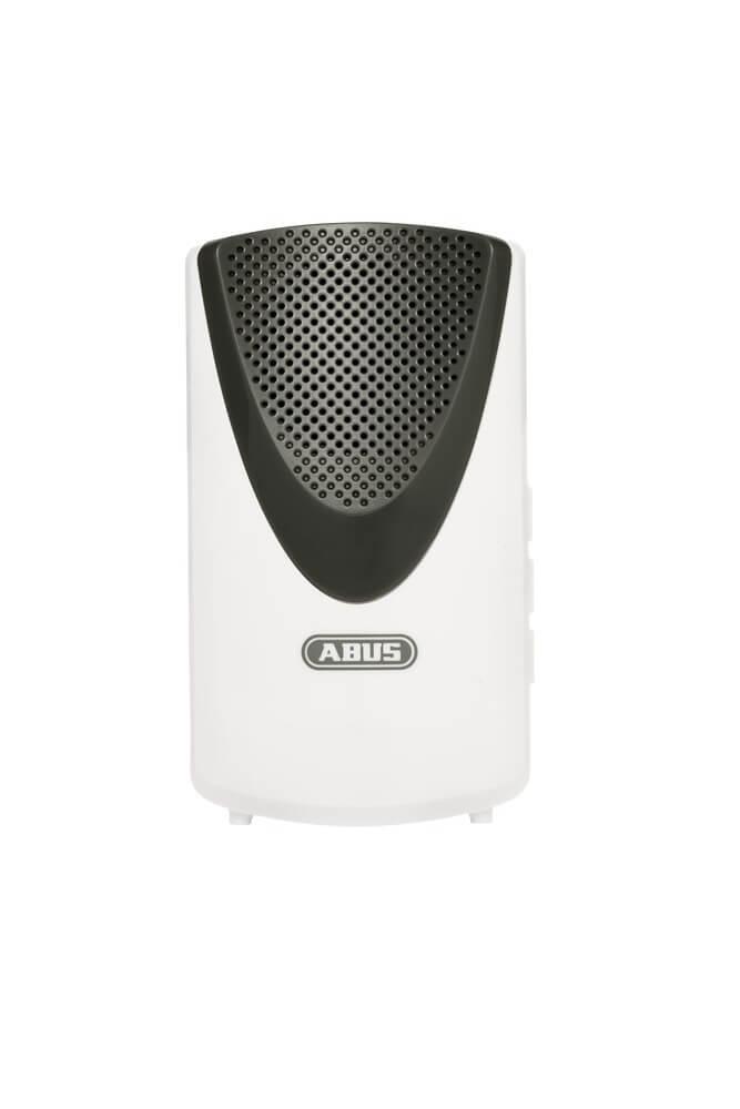 ABUS Smartvest Funk-Türgong Türklingel, 5 verschiedene Klingeltöne, Lautstärke einstellbar inkl Batterien