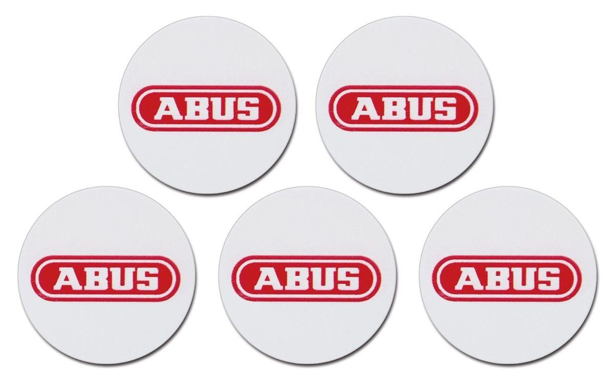 ABUS Smartvest Proximity-Chip-Sticker 5er Set zur Klebemontage | Aktivierung und Deaktivierung Alarmanlage