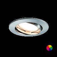 Paulmann LED-Einbauleuchte SmartCoin RGB - Eisen gebürstet
