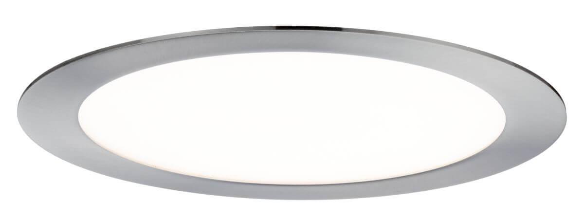 Paulmann LED-Einbaupanel SmartPanel RGB Ø 225 mm, rundes Panel Eisen gebürstet