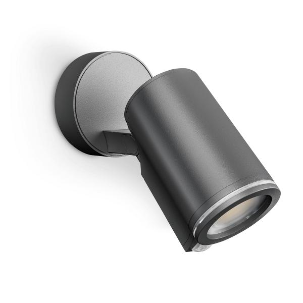 Steinel Spot ONE Sensorleuchte LED-Strahler Connect | Wandleuchte, Anthrazit mit Bluetooth