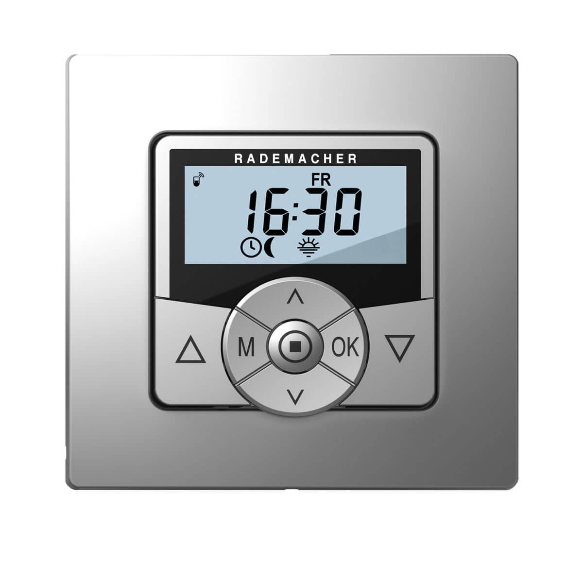 Rademacher Funksteuerung HomeTimer aluminium mit Display, DuoFern-Funk Zeitschaltuhr