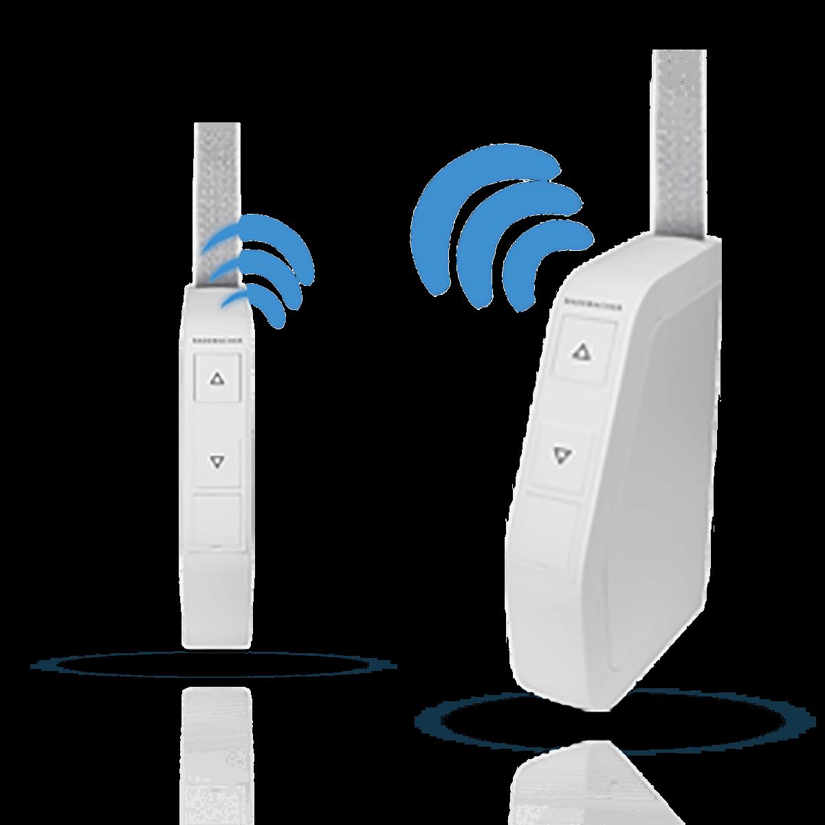 Rademacher Funk-Schwenkwickler RolloTron Standard in weiß, Aufputz, für Maxi-Gurte (23 mm Breite), DuoFern-Funk