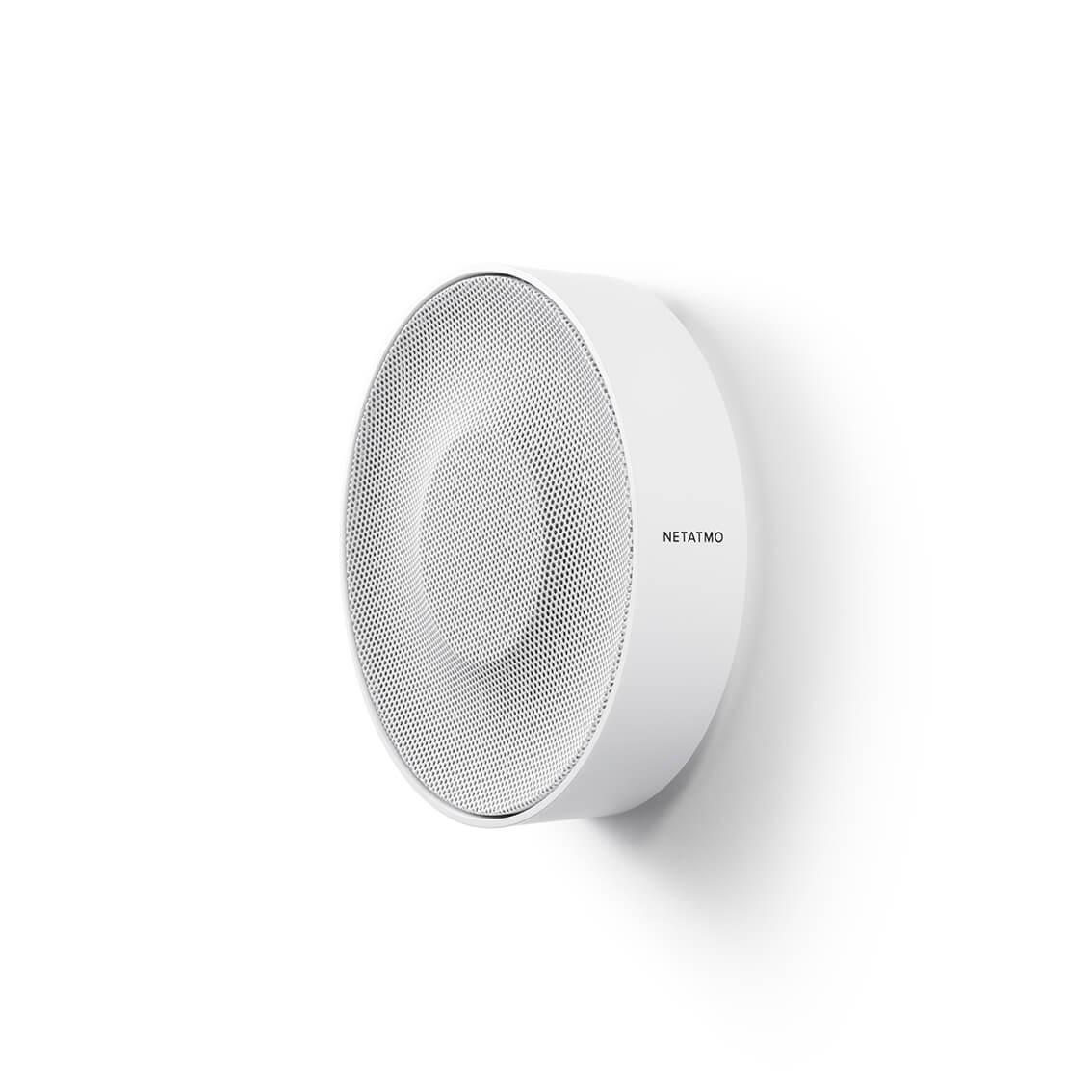 Netatmo Smarte Innen-Alarmsirene | 110 dB Signal, automatische Aktivierung des Sicherheitssystems