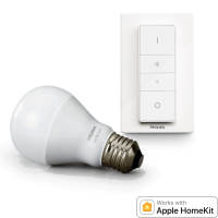 Philips Hue Wireless Dimming Kit, E27 LED Lampe inkl. Dimmschalter für warmweißes Licht