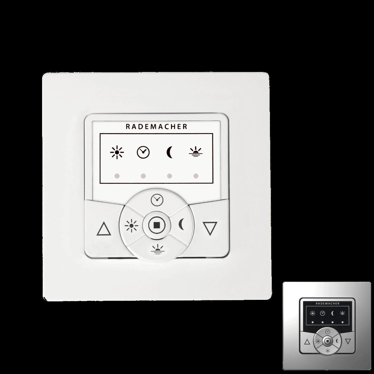 Rademacher Troll Basis Steuerung weiß oder alu | mit Tastfunktion und DuoFern-Funk