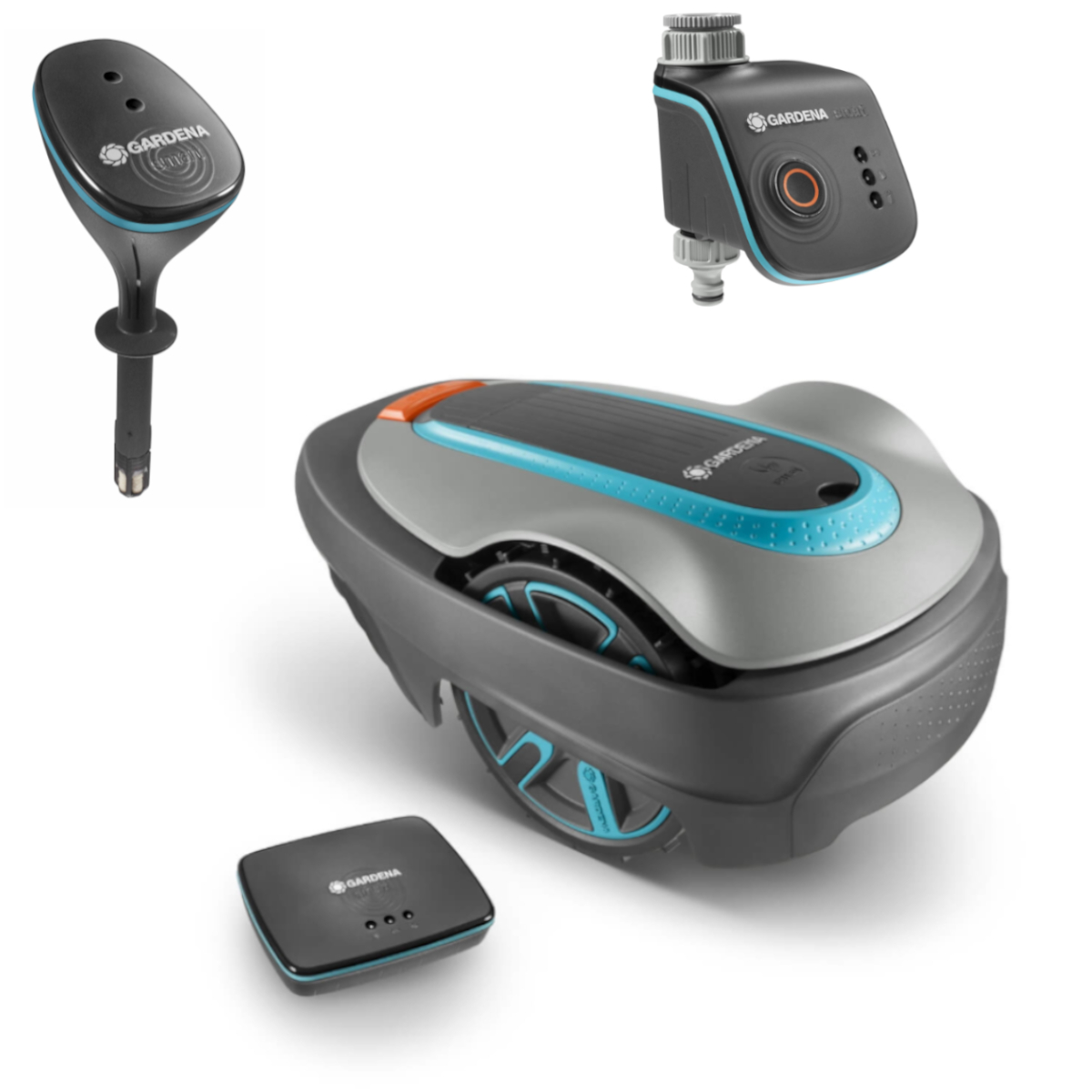 GARDENA Mähroboter Komplettset   Inklusive Mähroboter, Gateway, smart Sensor, smart Water Control