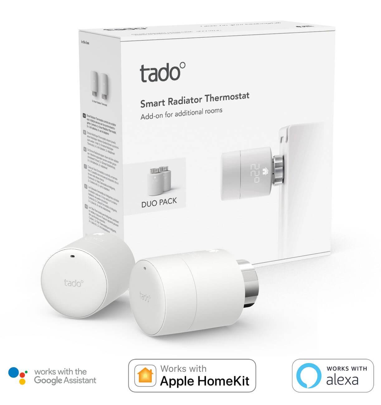 tado° Smartes Heizkörperthermostat Erweiterung für Starter Kits zur Einzelraumsteuerung 2er Pack