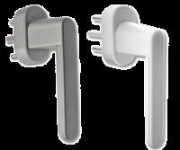 Schellenberg Sicherheits Alarmgriff verschiedene Vierkantlängen, weiß oder silber