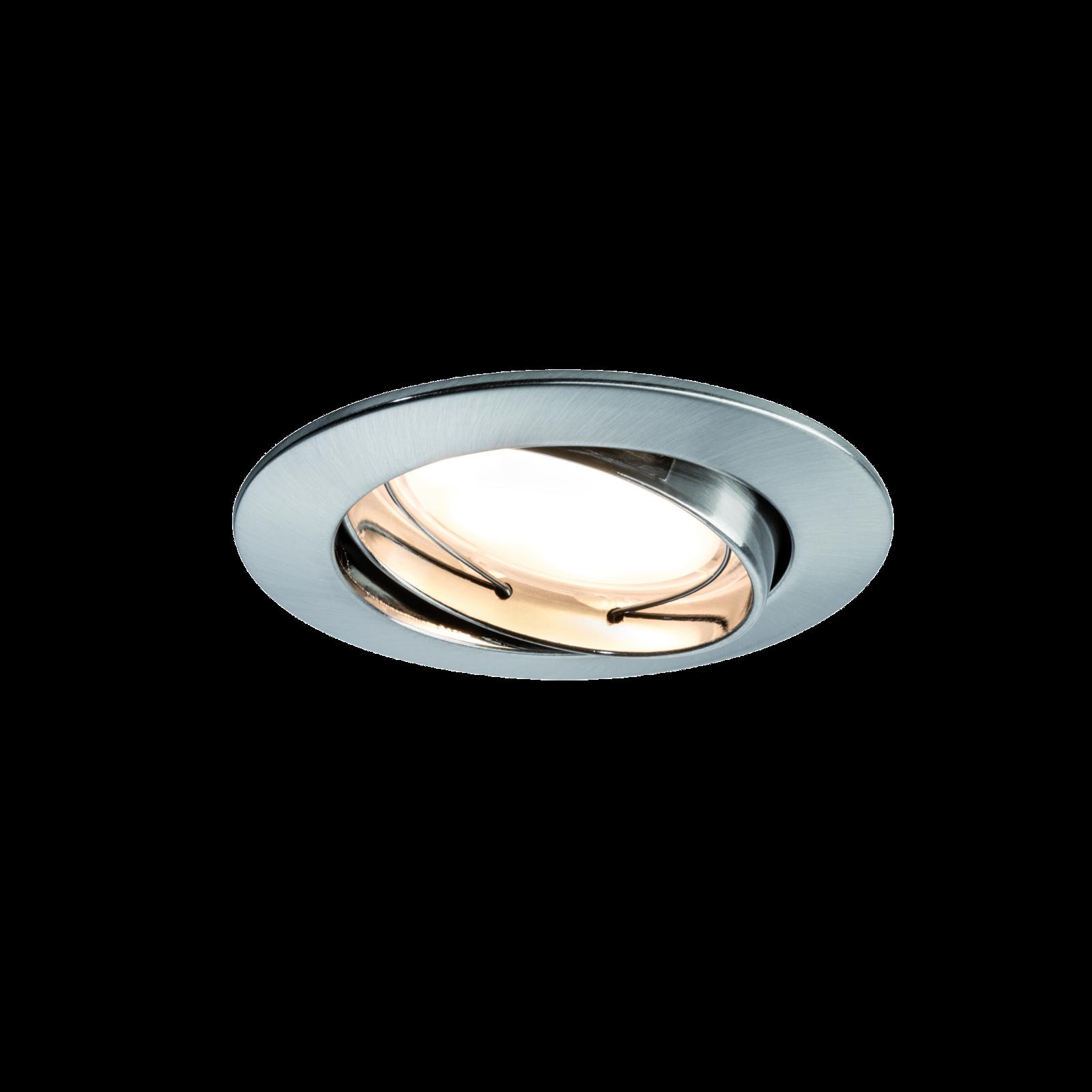 Paulmann LED Einbauleuchte Dimmbar - Eisen gebürstet