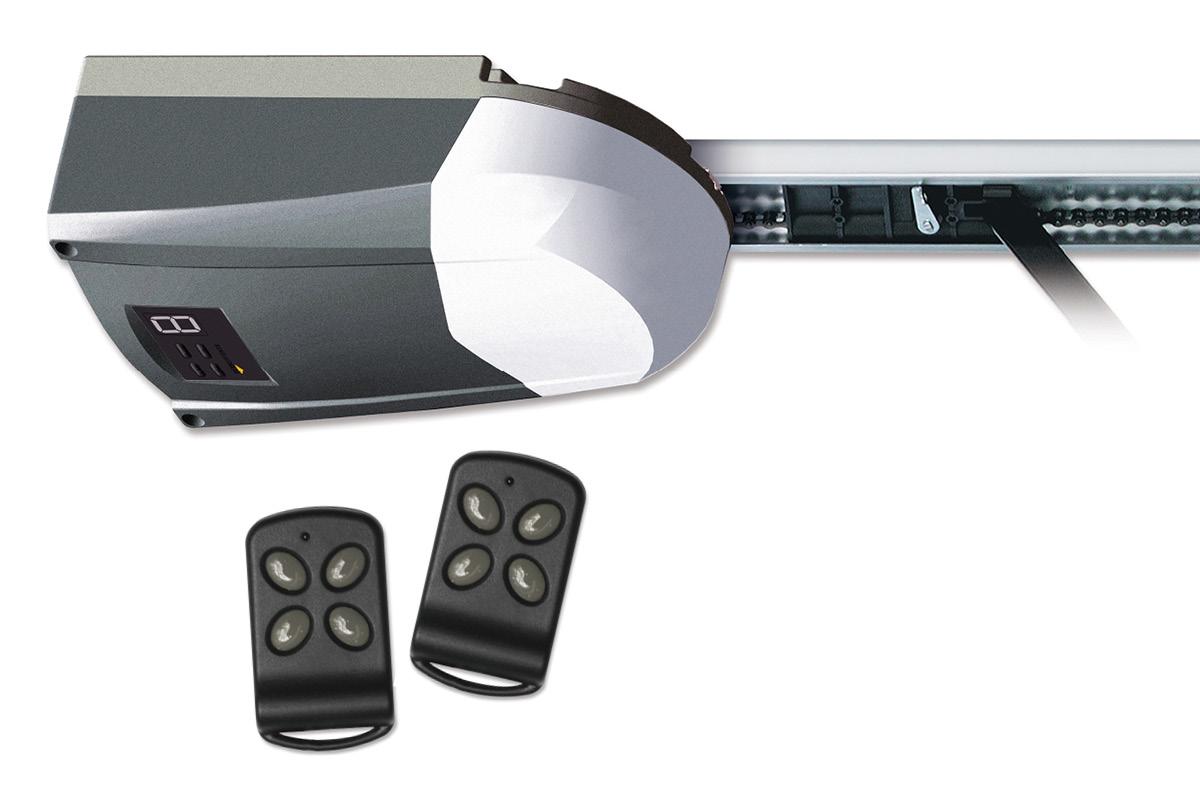 Schellenberg Smart Drive 14Garagentorantrieb + 2 Handsender | 100 Kg Zugkraft | max 14 m² Torfläche