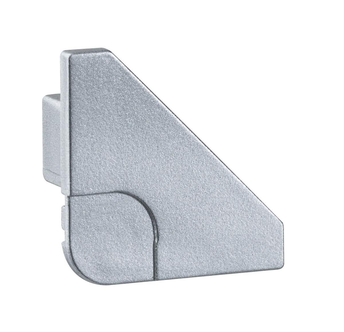 PaulmannDelta Profil Cap, 2er Pack, Alu matt, Kunststoff