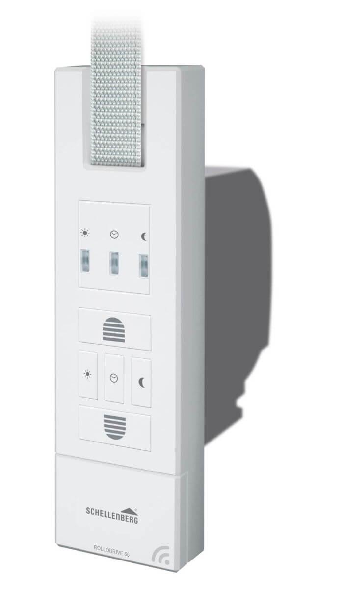 Schellenberg RolloDrive 65 Premium elektrischer Gurtwickler mit Funk, Dämmerungsfunktion
