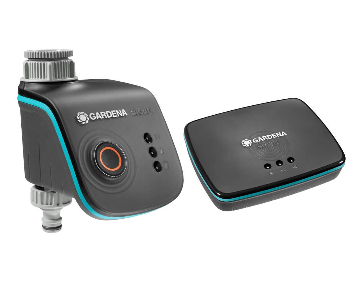 GARDENA smart Water Control Set | Smarte Steuerung Outdoorbereich | Gateway, Water Control
