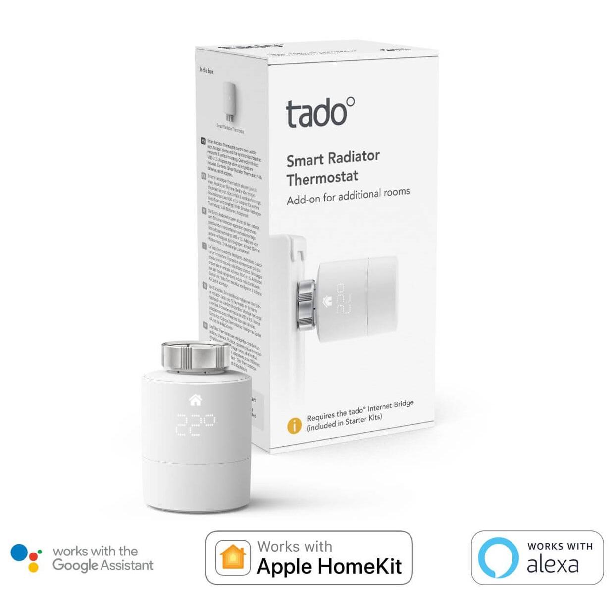 tado° Smartes Heizkörperthermostat Erweiterung für Starter Kits zur Einzelraumsteuerung LED Display