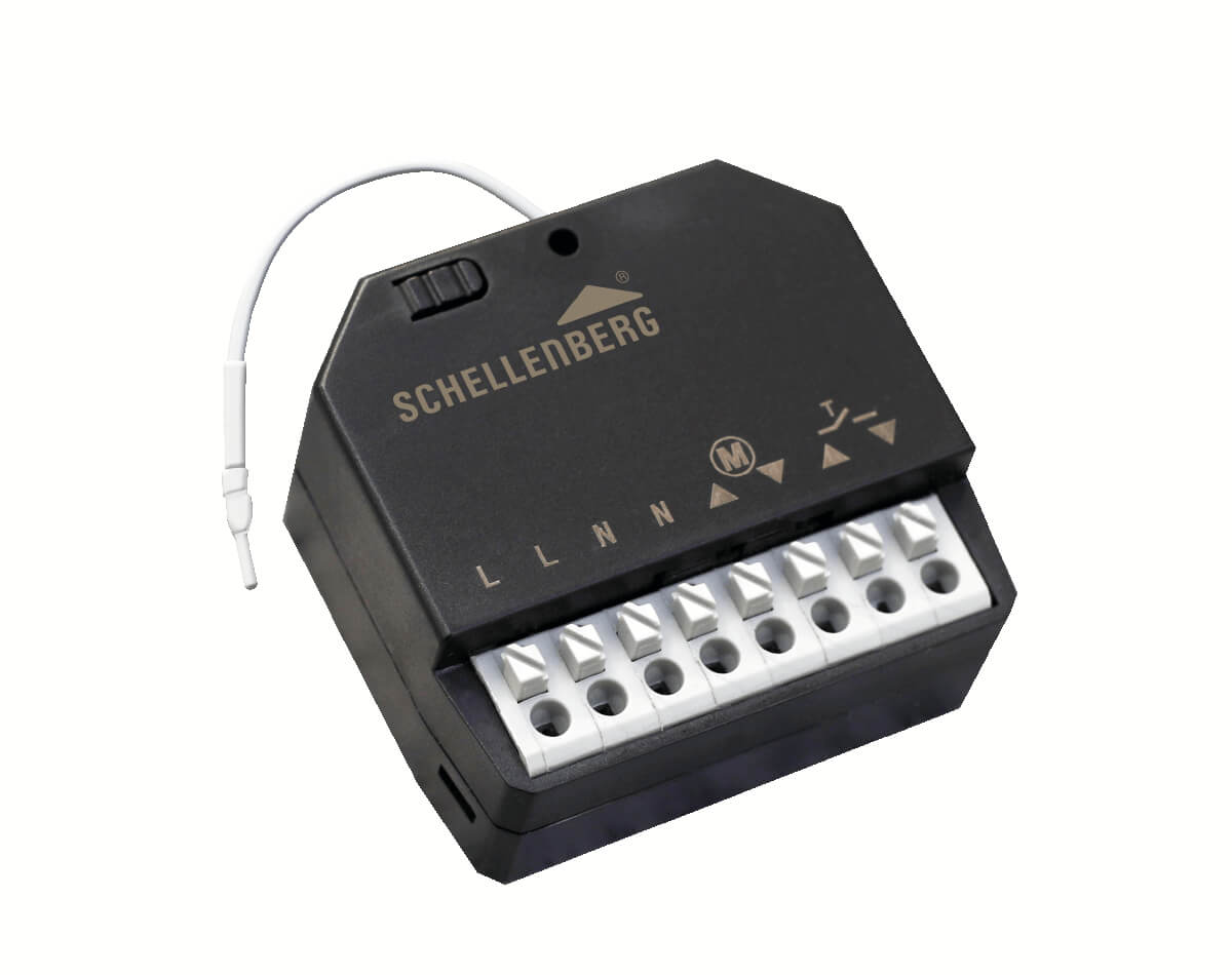 Schellenberg Funk-Empfangsmodul für Rolladenmotoren und Markisenmotoren, Raffstore steuern