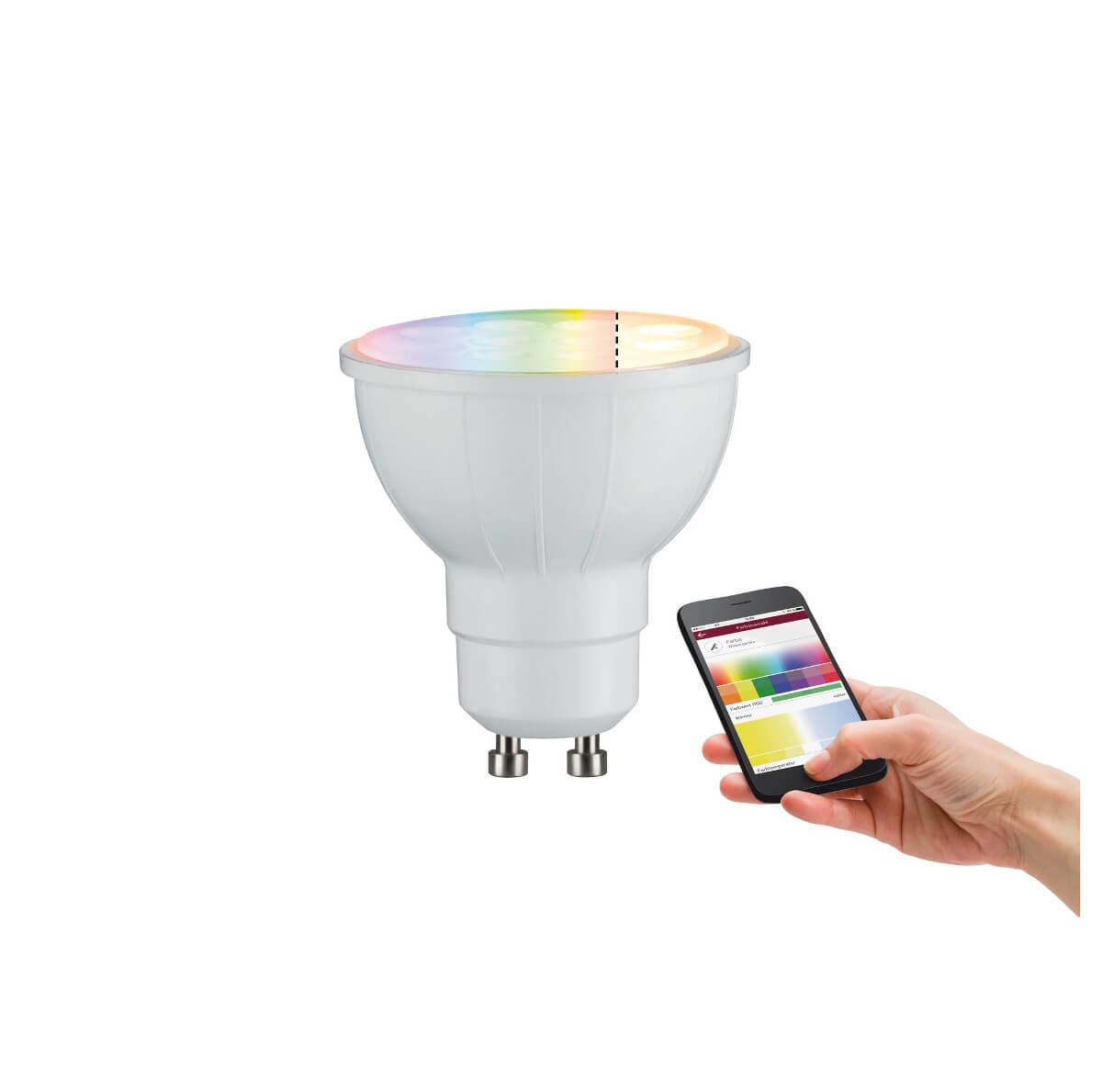 Paulmann SmartHome Zigbee LED Reflektor 3,5 W GU10 RGBW, App-Anbindung möglich