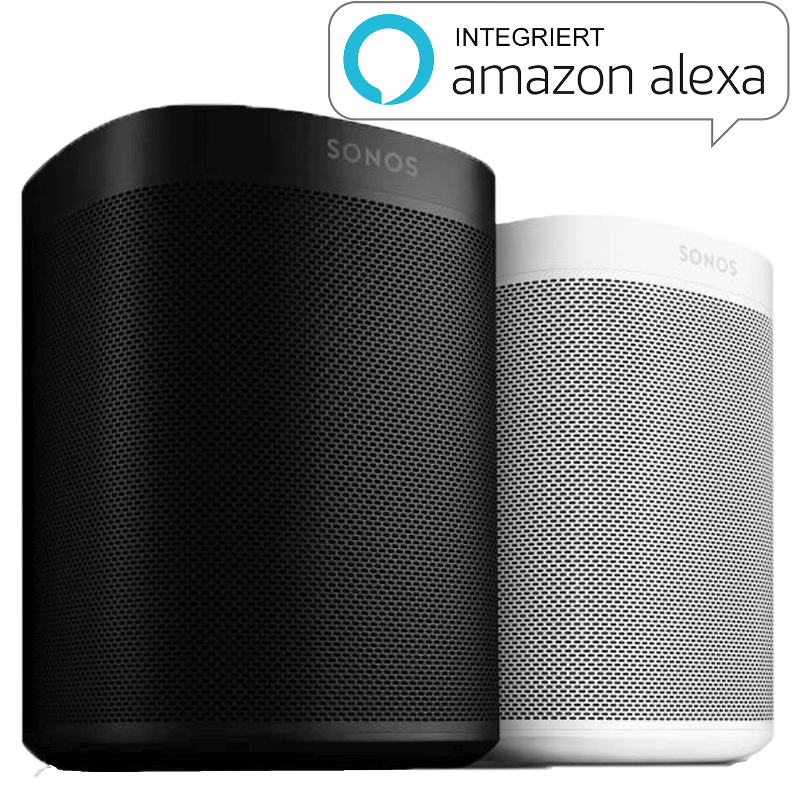 sonos one lautpsrecher mit alexa sprachsteuerung smart home ger te hier online kaufen. Black Bedroom Furniture Sets. Home Design Ideas