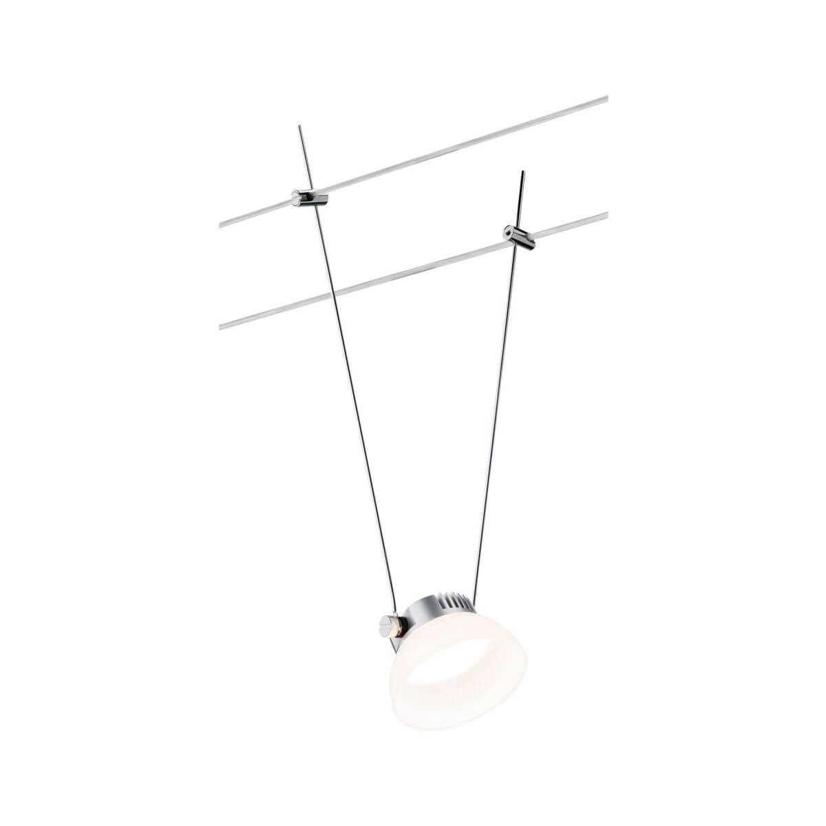 Paulmann Seilspot IceLED I,  4W, 12 V DC, Warmweiß,  Chrom matt | Weiß