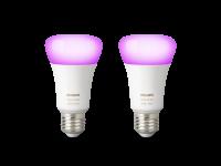 Philips Hue White and Color Ambiance LED E27 Doppelpack   2 x RGBW LED Leuchtmittel im Set