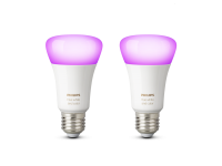 Philips Hue White and Color Ambiance LED E27 Doppelpack | 2 x RGBW LED Leuchtmittel im Set