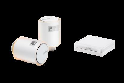 Netatmo Smarte Heizkörperthermostate, Starterpack mit 2 Thermostaten & Relais, App/Sprache steuerbar
