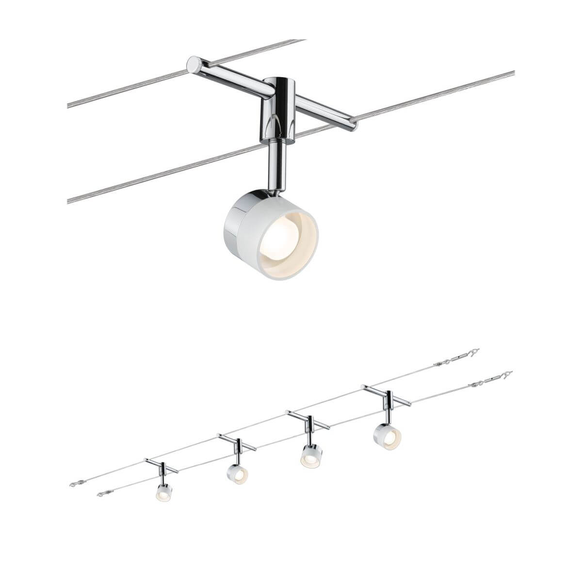 Paulmann LED Seil-Set, 4x5W, Stage, 12V AC, Weiß, Chrom