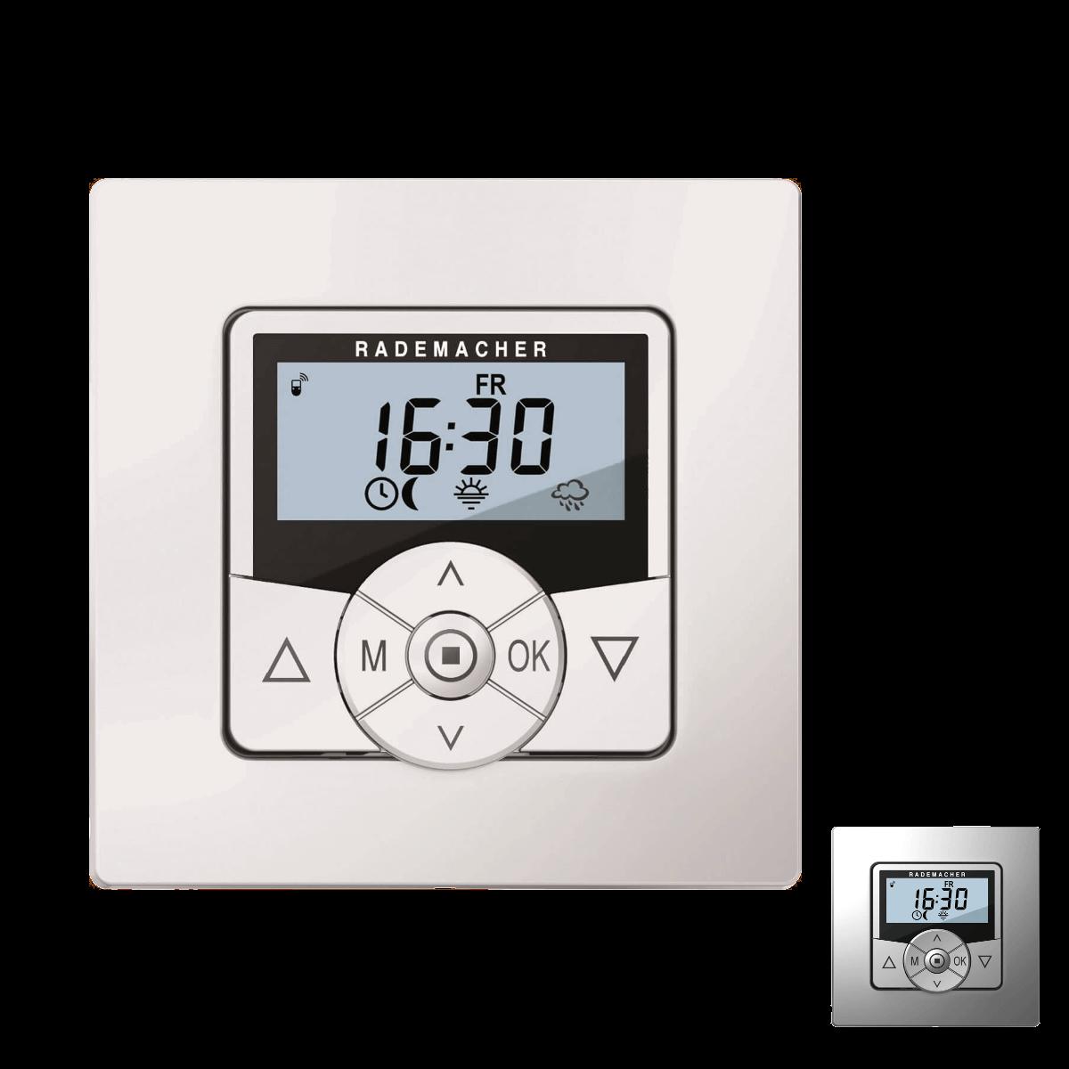 Rademacher Funksteuerung Hometimer alu oder weiß mit Display, DuoFern-Funk