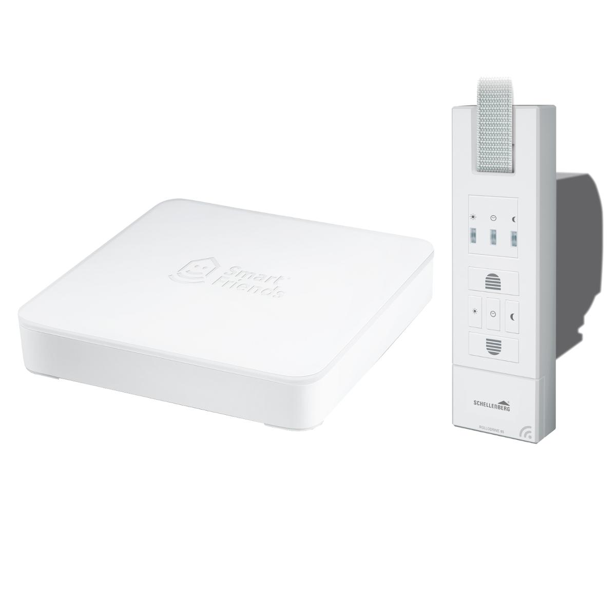 Smart Home Set Schellenberg Smart Friends Box + Elektrischer Gurtwickler Rollodrive Premium 65